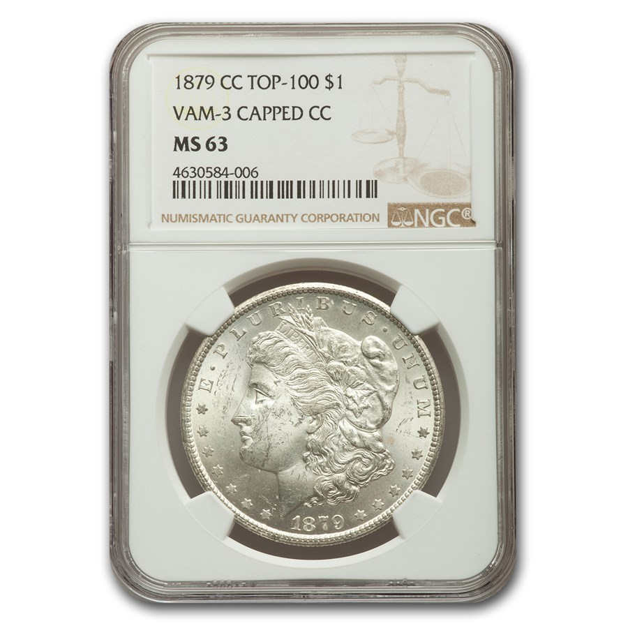 1879-CC Morgan Dollar MS-63 NGC (VAM-3 Capped CC)