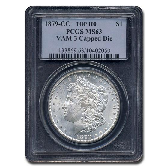 1879-CC Morgan Dollar MS-63 PCGS (VAM-3 Capped CC)
