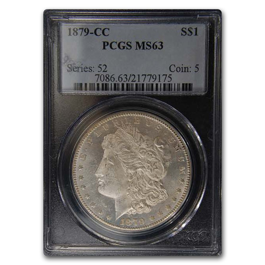 1879-CC Morgan Dollar MS-63 PCGS