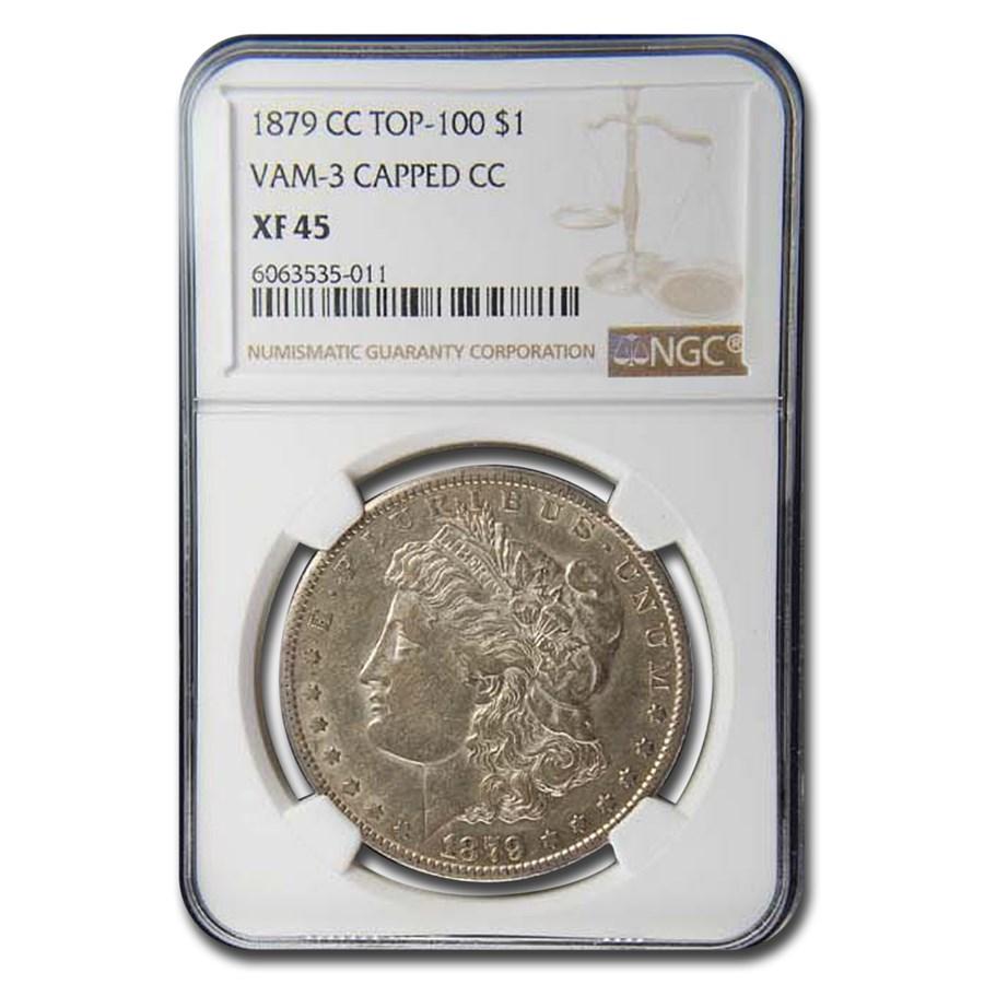 1879-CC Morgan Dollar XF-45 NGC (VAM-3 Capped CC)