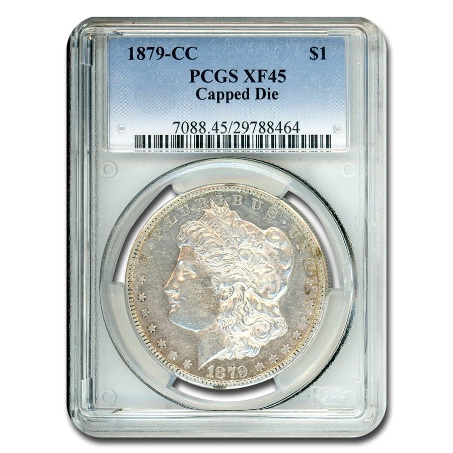 1879-CC Morgan Dollar XF-45 PCGS (Capped CC)