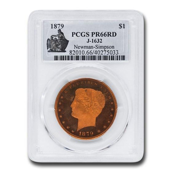 1879 Goloid Metric Pattern Dollar PR-66 PCGS (Red J-1632)