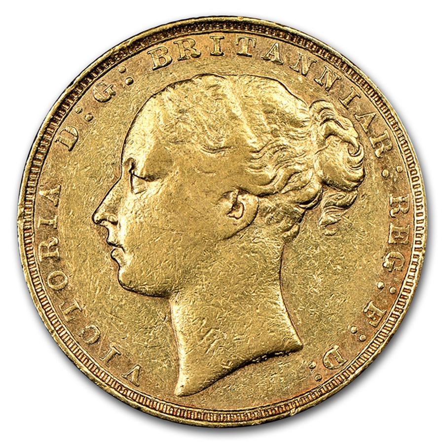 1879 Great Britain Gold Sovereign Victoria Young Head XF-45 NGC