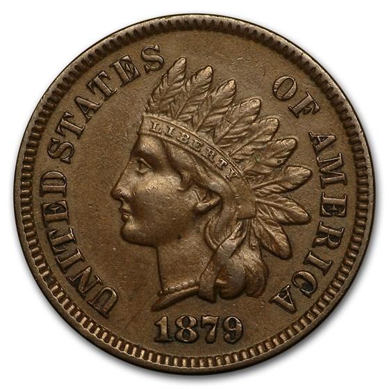 1879 Indian Head Cent AU
