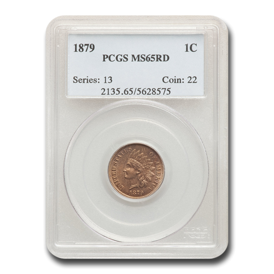 1879 Indian Head Cent MS-65 PCGS (Red)