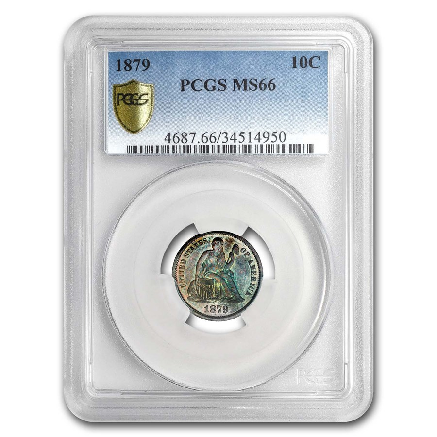 1879 Liberty Seated Dime MS-66 PCGS