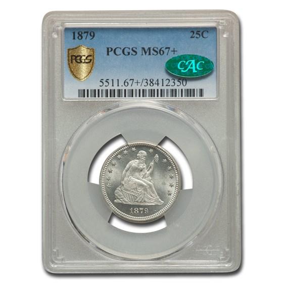 1879 Liberty Seated Quarter MS-67+ PCGS CAC