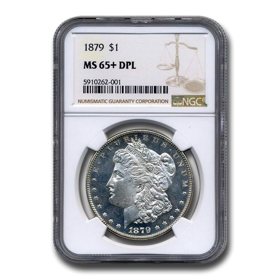 1879 Morgan Dollar DPL MS-65+ NGC
