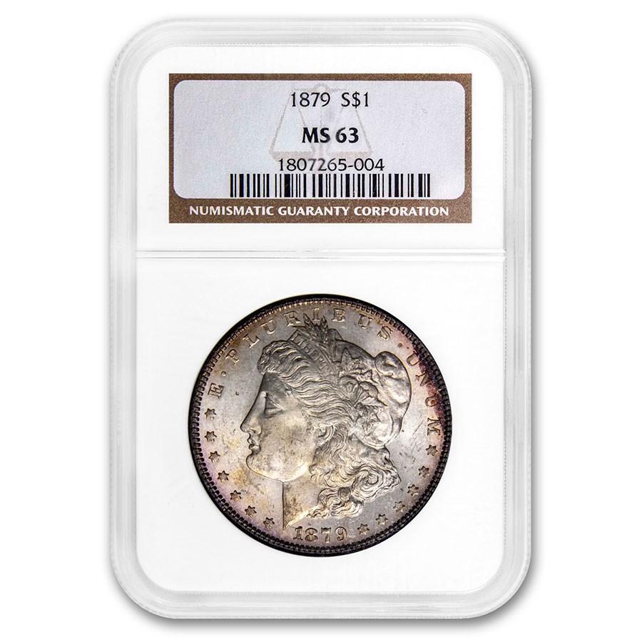 1879 Morgan Dollar MS-63 NGC (Toned)
