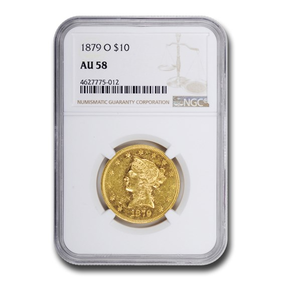 1879-O $10 Liberty Gold Eagle AU-58 NGC