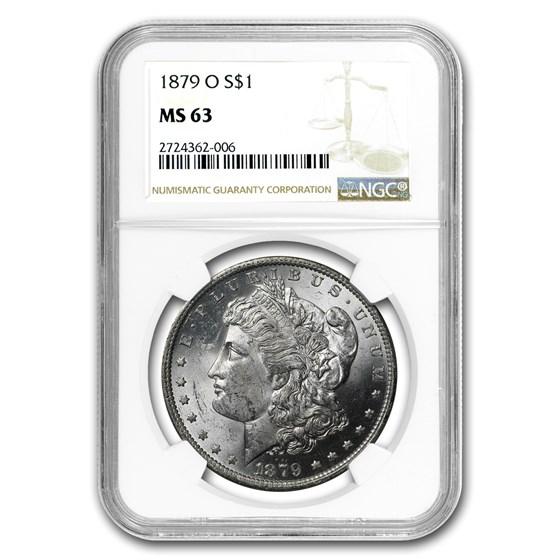 1879-O Morgan Dollar MS-63 NGC