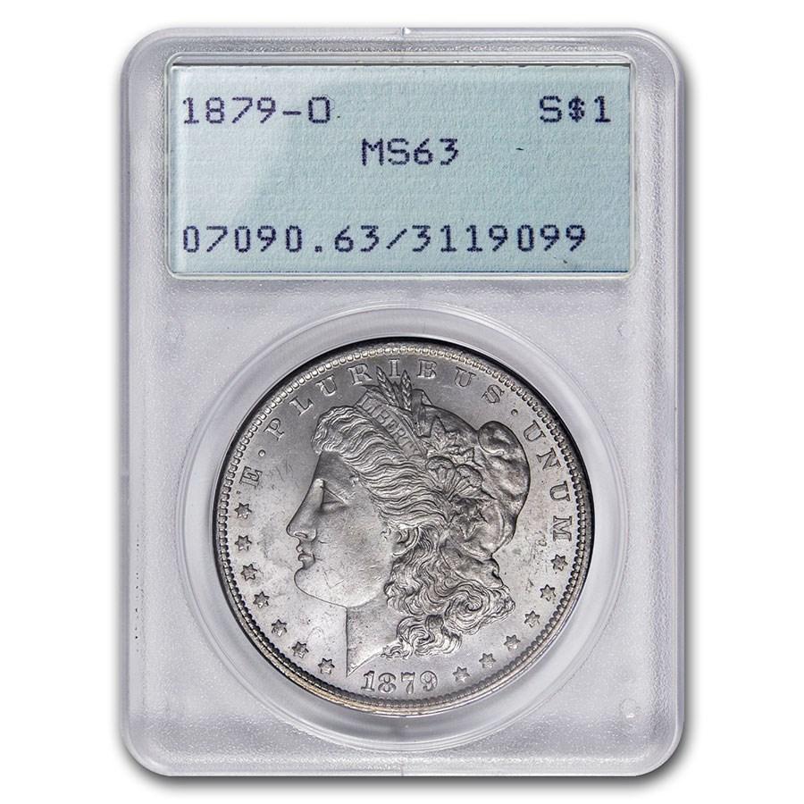 1879-O Morgan Dollar MS-63 PCGS (Old Rattler Holder)
