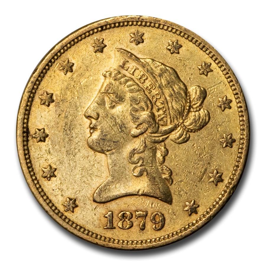 1879-S $10 Liberty Gold Eagle AU
