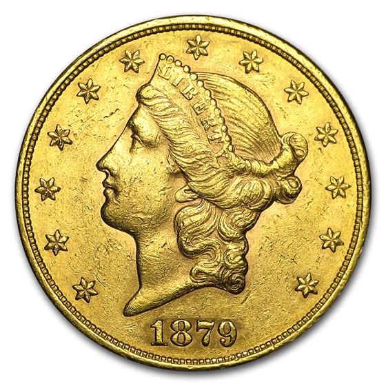 1879-S $20 Liberty Gold Double Eagle AU