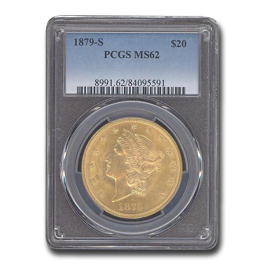 1879-S $20 Liberty Gold Double Eagle MS-62 PCGS
