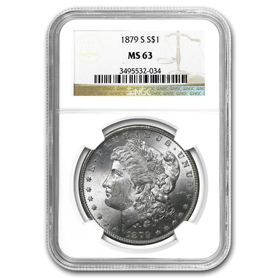 1879-S Morgan Dollar MS-63 NGC