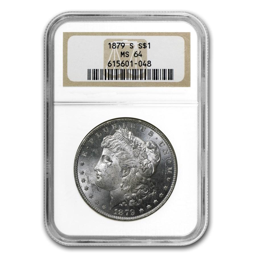 1879-S Morgan Dollar MS-64 NGC