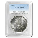 1879-S Morgan Dollar MS-64 PCGS