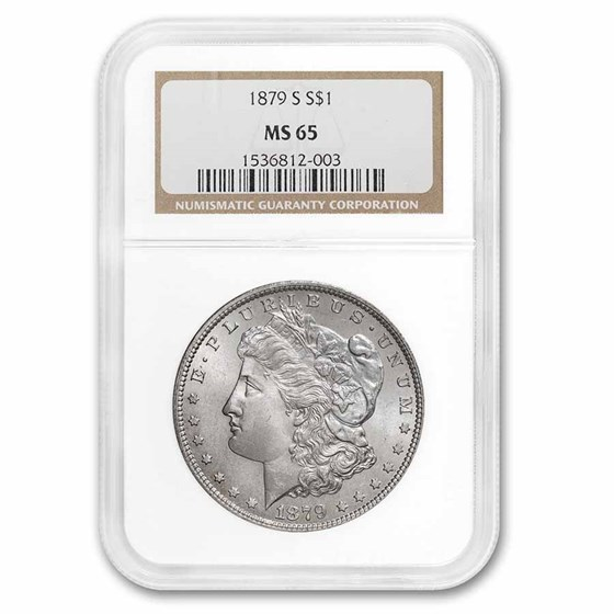 1879-S Morgan Dollar MS-65 NGC