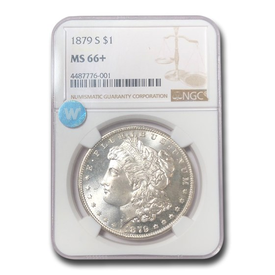 1879-S Morgan Dollar MS-66+ NGC