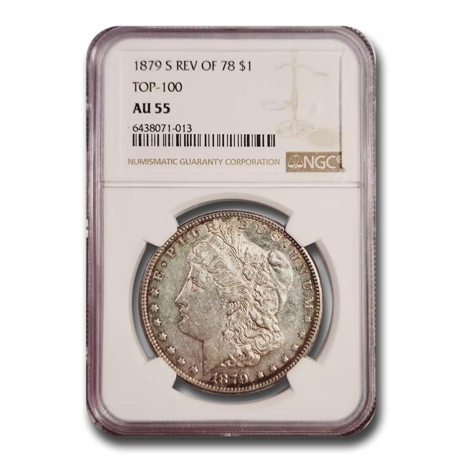1879-S Morgan Dollar Rev of 78 AU-55 NGC (Top-100)