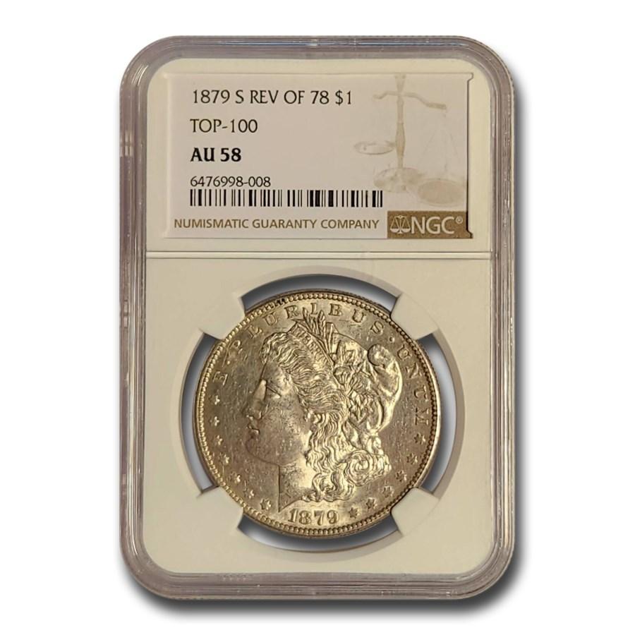 1879-S Morgan Dollar Rev of 78 AU-58 NGC