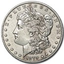 1879-S Morgan Dollar Rev of 78 AU Details (Cleaned)
