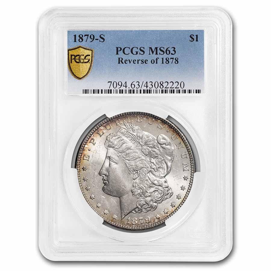 1879-S Morgan Dollar Rev of 78 MS-63 PCGS