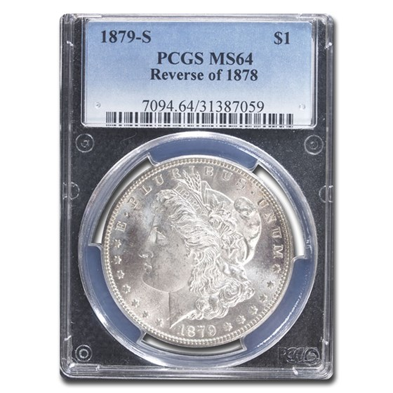 1879-S Morgan Dollar Rev of 78 MS-64 PCGS