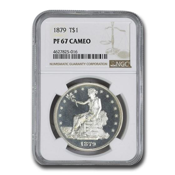 1879 Trade Dollar PF-67 Cameo NGC