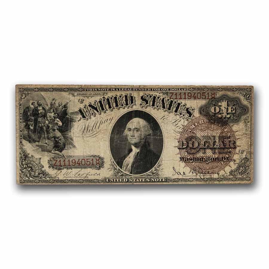 1880 $1.00 Legal Tender Fine (Fr#28)