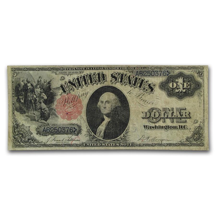 1880 $1.00 Legal Tender Fine
