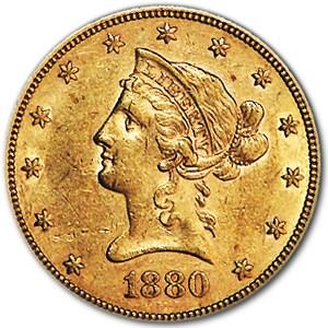 1880 $10 Liberty Gold Eagle AU