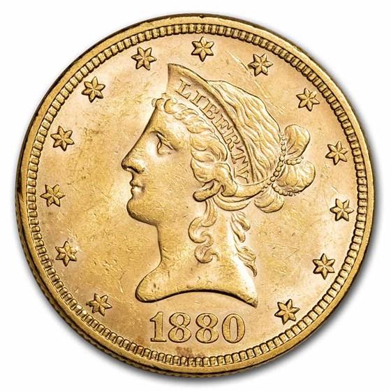 1880 $10 Liberty Gold Eagle BU