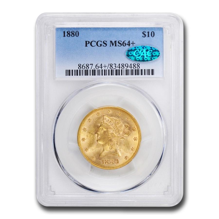 1880 $10 Liberty Gold Eagle MS-64+ PCGS CAC