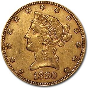 1880 $10 Liberty Gold Eagle XF