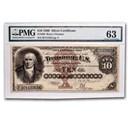 1880 $10 Silver Certificate Robert Morris CU-63 PMG (Fr#289)