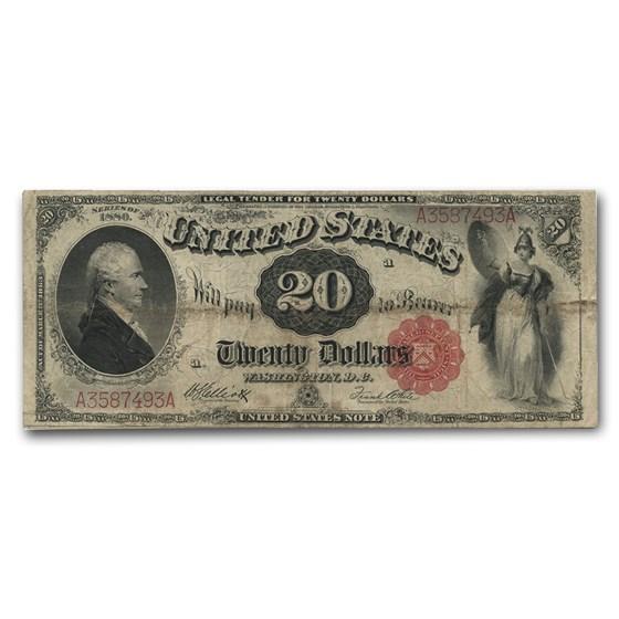 1880 $20 Legal Tender Alexander Hamilton VF