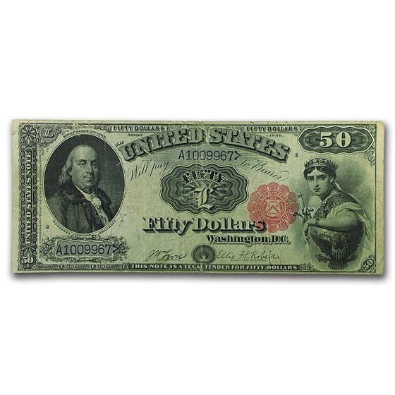 1880 $50 Legal Tender Benjamin Franklin Fine