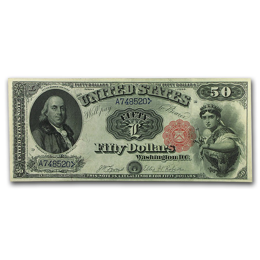 1880 $50 Legal Tender Benjamin Franklin XF