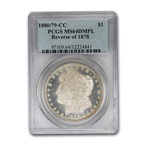 1880/79-CC Morgan Dollar MS-64 PCGS (DMPL, Rev. of 1878)