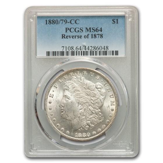 1880/79-CC Morgan Dollar Rev of 78 MS-64 PCGS