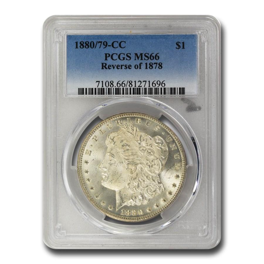 1880/79-CC Morgan Dollar Rev of 78 MS-66 PCGS