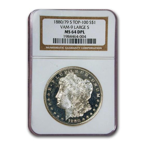 1880/79-S Morgan Dollar Large S MS-64 NGC (DPL, VAM-9)