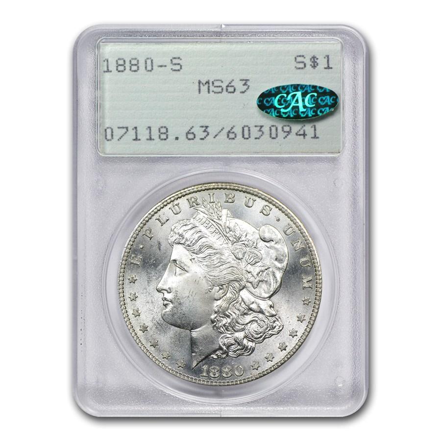 1880/79-S Morgan Dollar MS-63 PCGS (VAM-9, Large S, CAC, Top-100)
