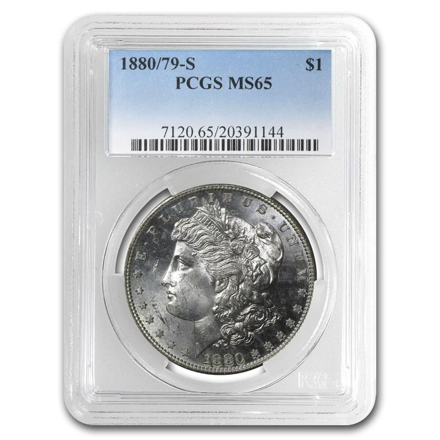 1880/79-S Morgan Dollar MS-65 PCGS