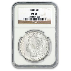 1880/9-S Morgan Dollar MS-66 NGC (VAM-11, 0/9 Overdate Hot-50)