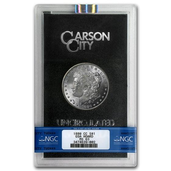 1880-CC Morgan Dollar 8/7 MS-63 NGC (VAM-9, GSA)