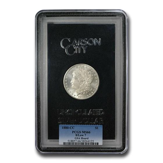 1880-CC Morgan Dollar 8/Low 7 MS-66 PCGS (GSA)