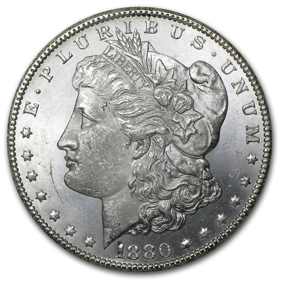 1880-CC Morgan Dollar BU